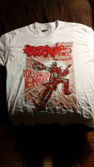 My bitching new Killswitch Engage t-shirt. Photo by me.
